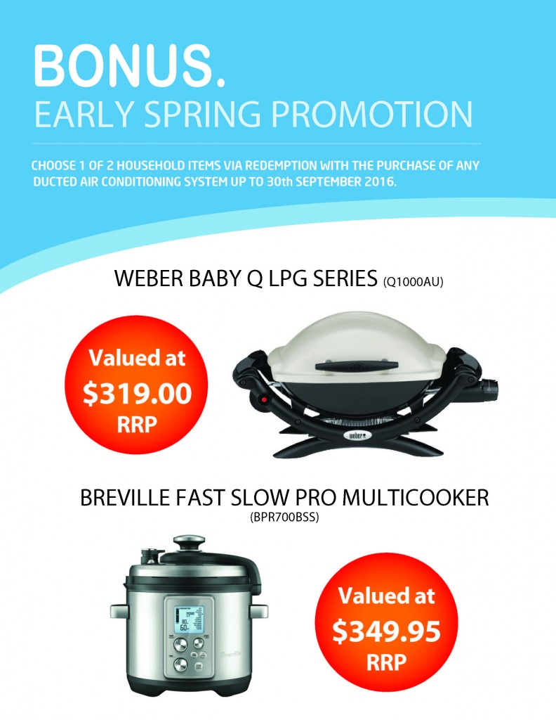 Bonus Early Spring Promotion